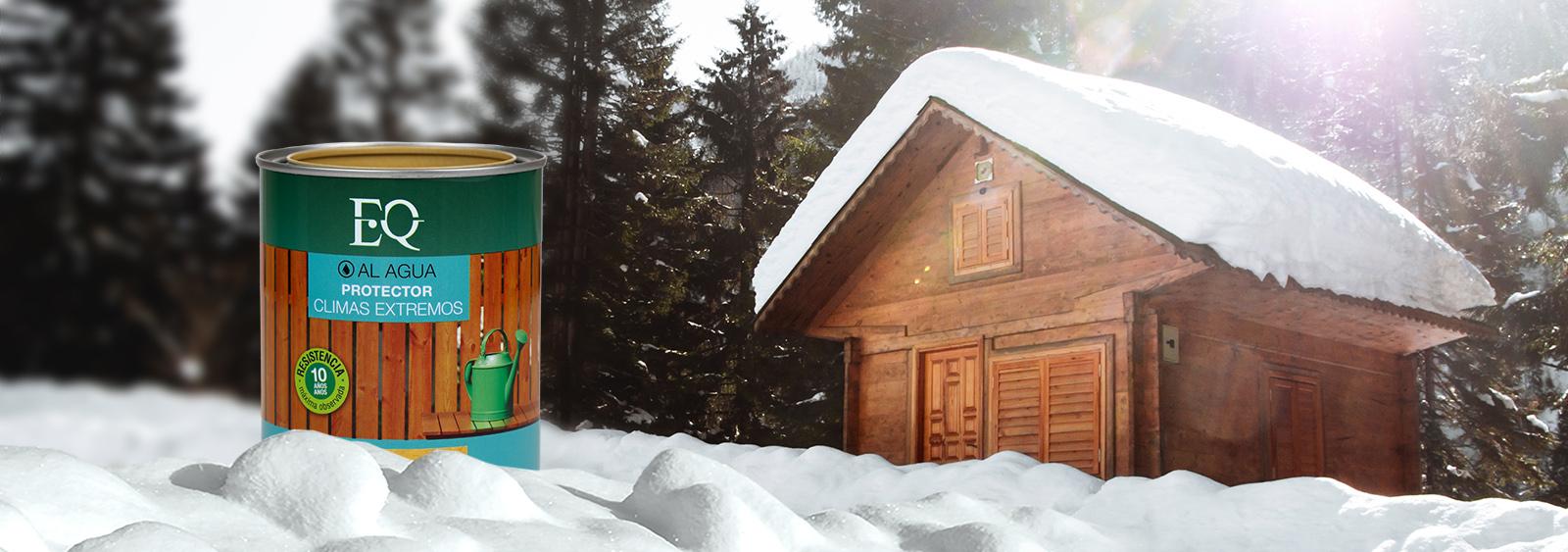 protector millennium aplicado sobre madera en invierno