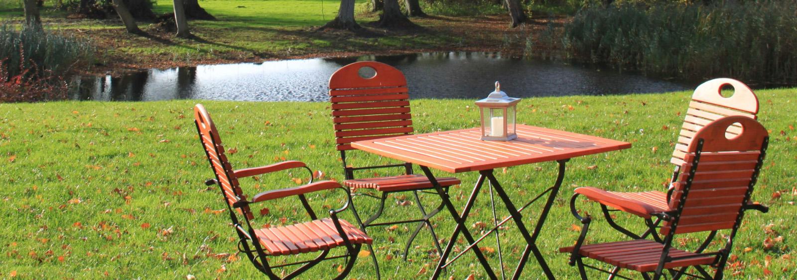Uso y disfrute de mobiliario de jardín