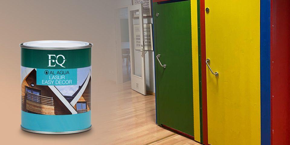 Lasur para madera Easy Decor usado en baños de escuelas