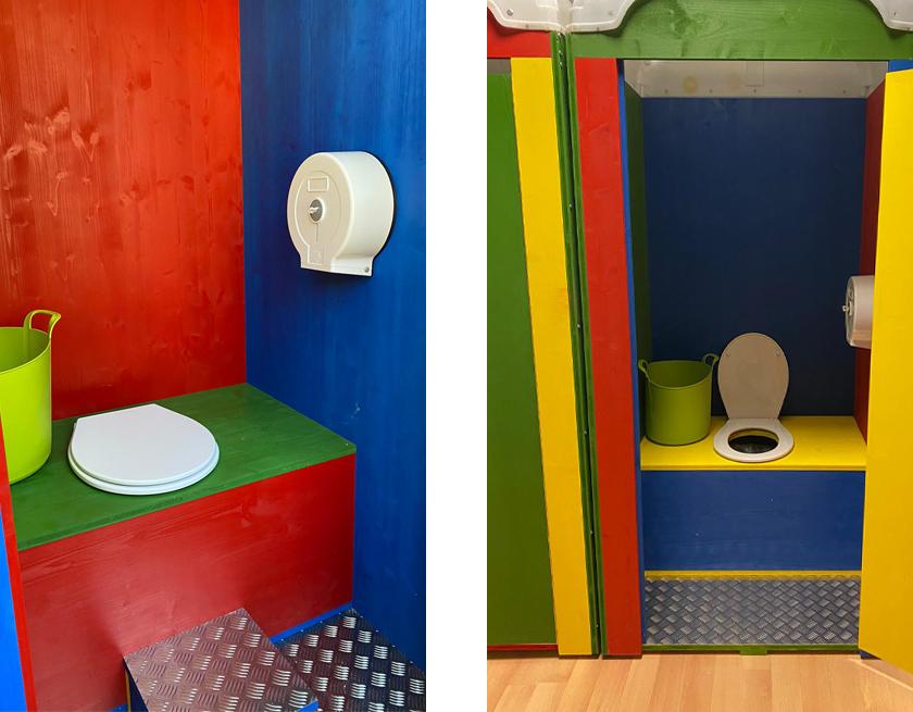 Interior del baño público