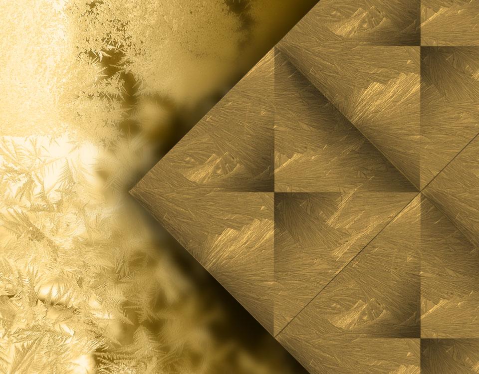 Efecto hielo dorado aplicado sobre superficie.