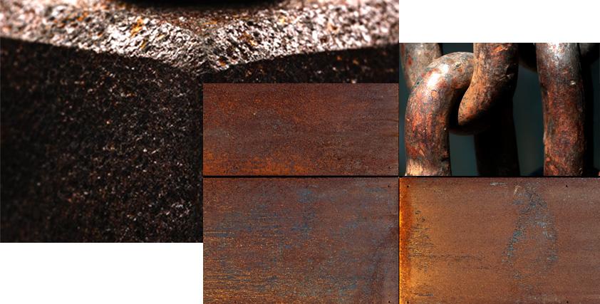 superficies con texturas de hierro